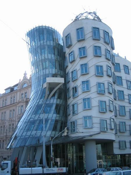 The Dancing House in Prague designed by Frank Gehry